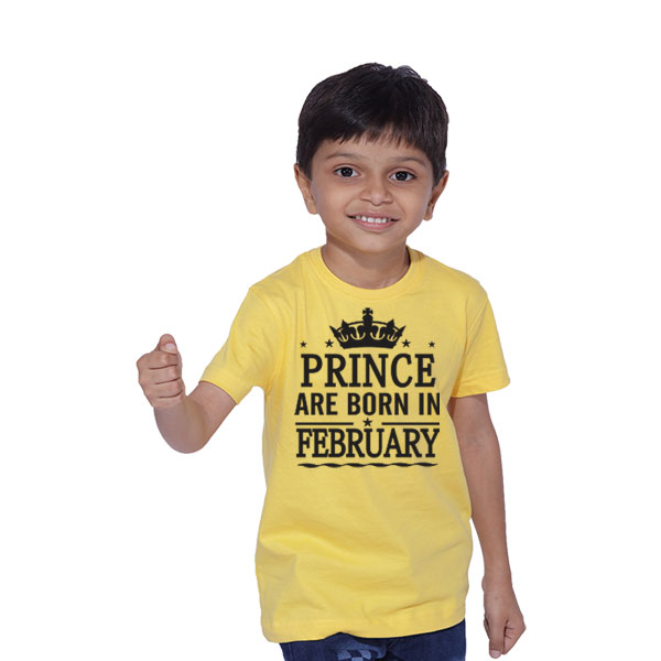 Prince Are Born In February Birthday T Shirts For Boys Buy Online India