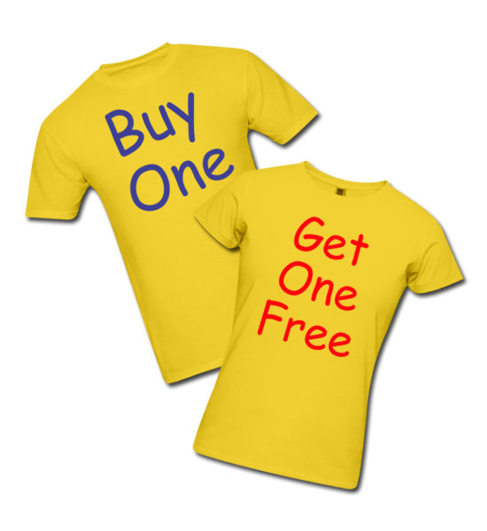 buy one get one free twins t shirt