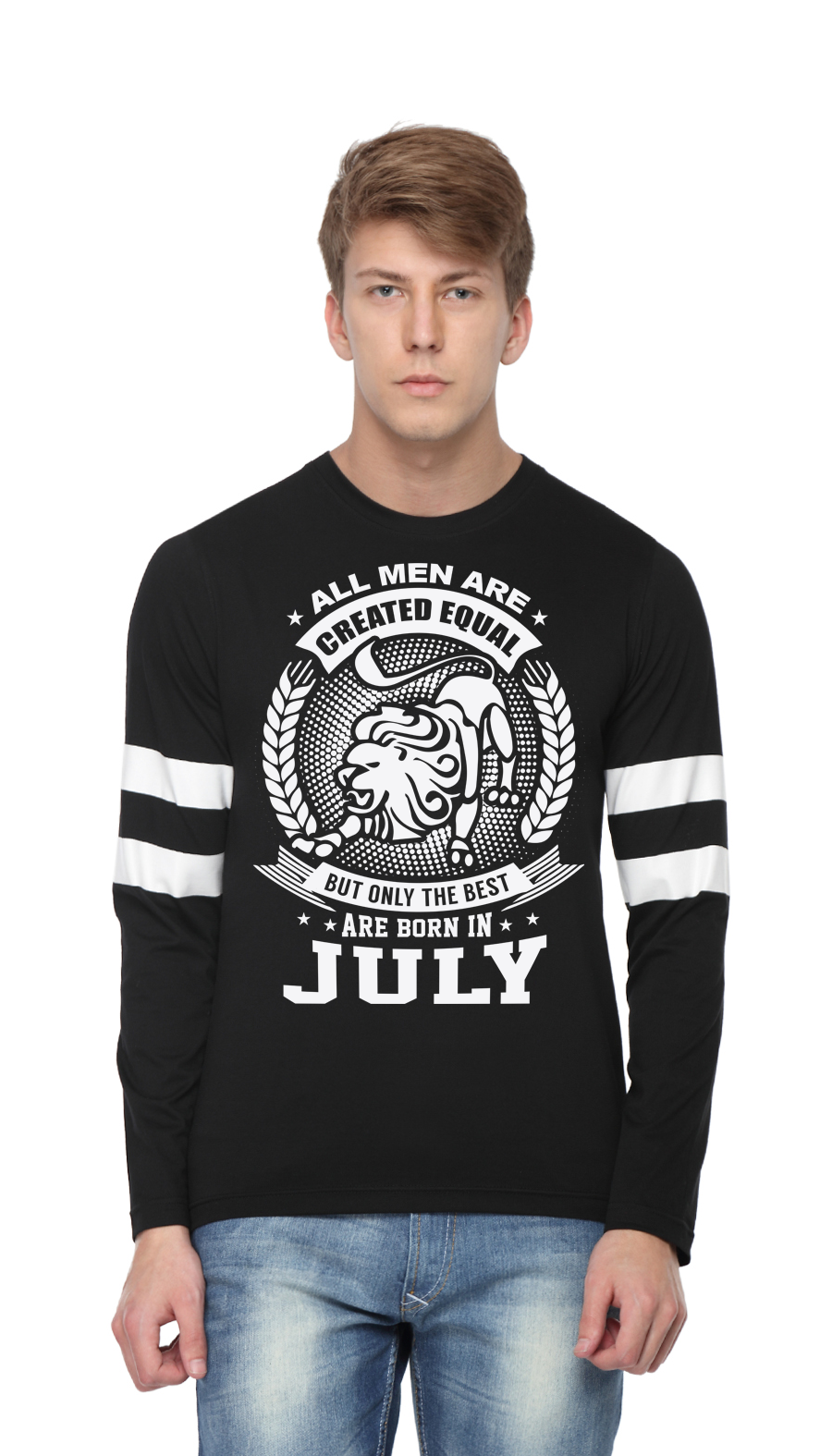 Best men are born in july men printed full sleeve t shirts for Best place to get t shirts printed