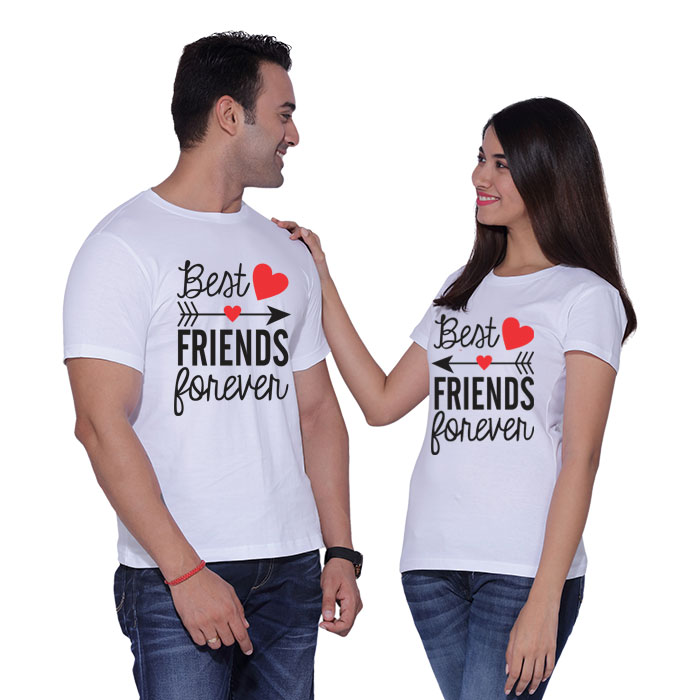 d77aaa3d6e Best Friends Forever Couple T-shirts pepperlub India