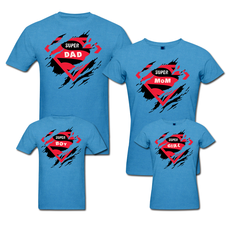 Super family matching family t shirts from pepperclub for Superhero t shirts india