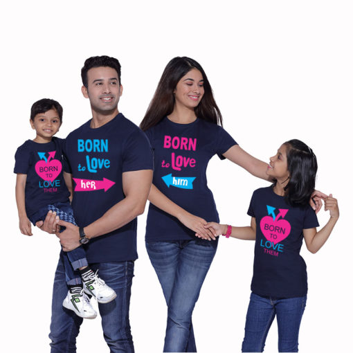 Born to Love Matching Family T-shirts