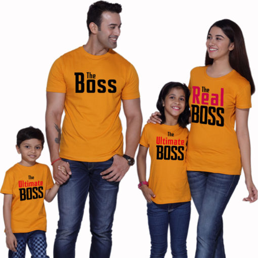 Real And Ultimate Boss Matching Family Tshirts