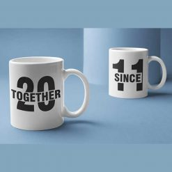 Together Since 2011 Couple Mugs