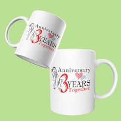 3rd Anniversary Couple Mugs