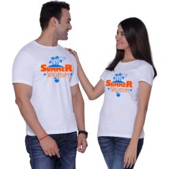 Summer Vacation Matching Couple Tshirts